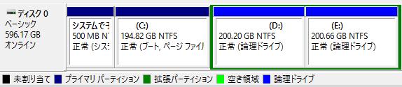 ▲ディスクの管理